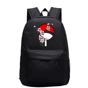 Black Anime School Bag For Children Teenager Backpacks Girls Boys Schoolbag Naruto Print Travel Shoulder Bag Kids Bookbag Unisex