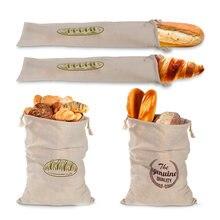 Льняные хлебные мешки многоразовая сумка на шнурке для буханки