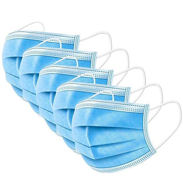 Disposable Masks 10/50 Pcs Mouth Mask 3-Ply Anti-Dust Nonwoven Elastic Earloop Salon Mouth Face Masks 2