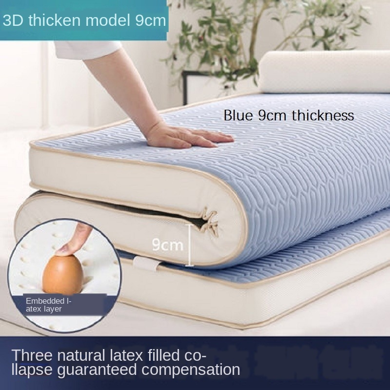 Natural Latex Mattress Foldable Colchones Memory Foam Sponge Filling Mattress 6cm/9cm Cotton Fabric King Queen Twin Full Size