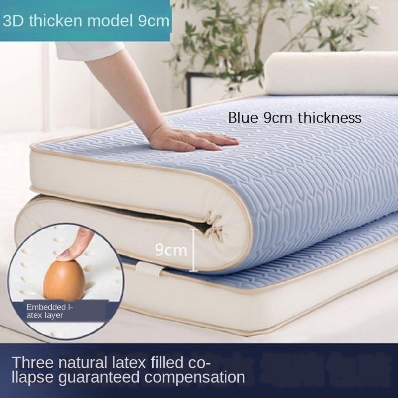 Natural Latex Mattress Foldable Colchones Memory Foam Sponge Filling Mattress 6cm/9cm Cotton Fabric King Queen Twin Full Size