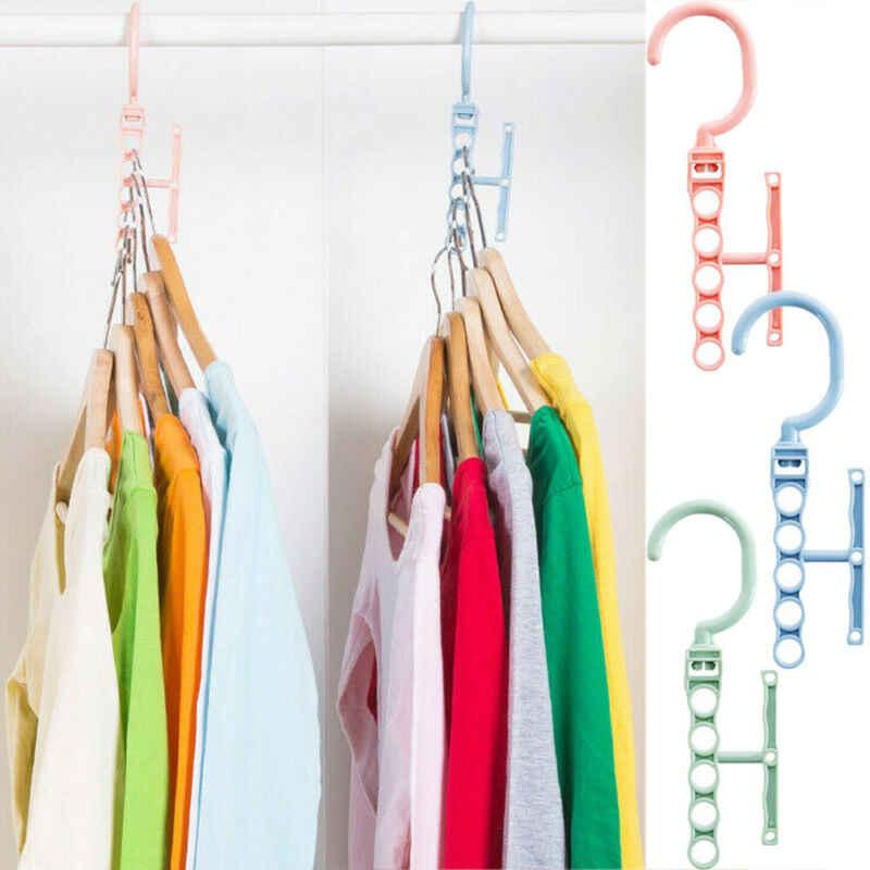 متعددة وظيفة علاّقات ملابس مساحة للتخزين حجرة منظم ماجيك حامل أرفف