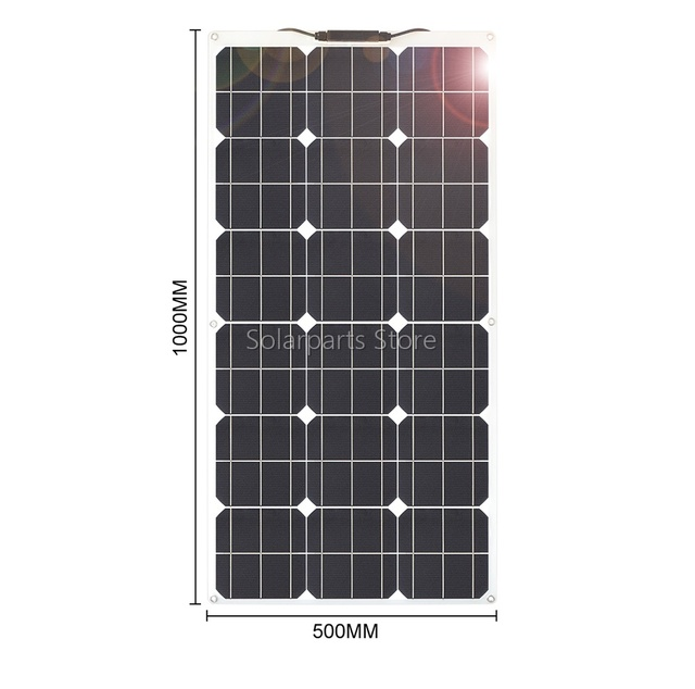 300W 2*150W Flexible  Solar Panel  20amp Charge controller No inverter 1