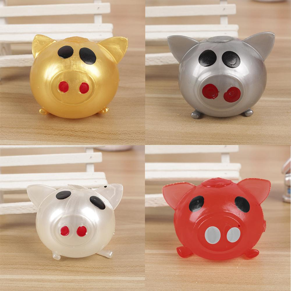 1 Pcs Cute Anti Stress Splat Water Pig Ball Vent Toy Venting Sticky Smash Squeeze Novelty Shocker Gags Jokes Prank Toys
