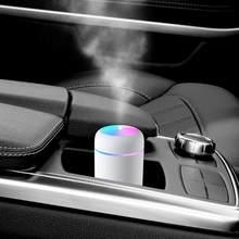 300Ml Usb Opladen Luchtbevochtiger Aroma Essentiële Olie Diffuser Cool Mist Maker Met Kleurrijke Nachtlampje Voor Thuis Kantoor auto