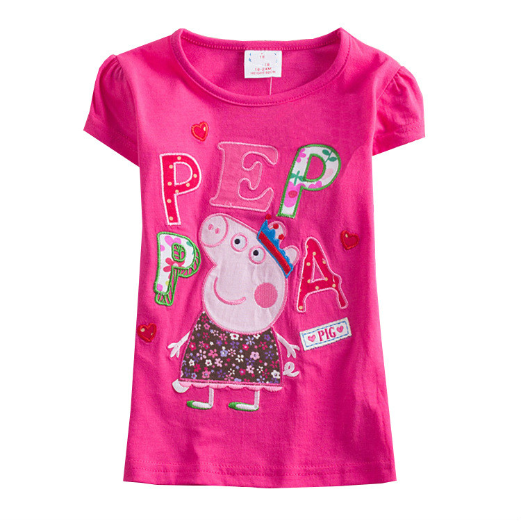 Peppa Pig Children Baby Girl Spring Princess Long Short Sleeve T-shirts Clothes Top Cotton Casual Girl Baby Sweatshirts 1-6Y