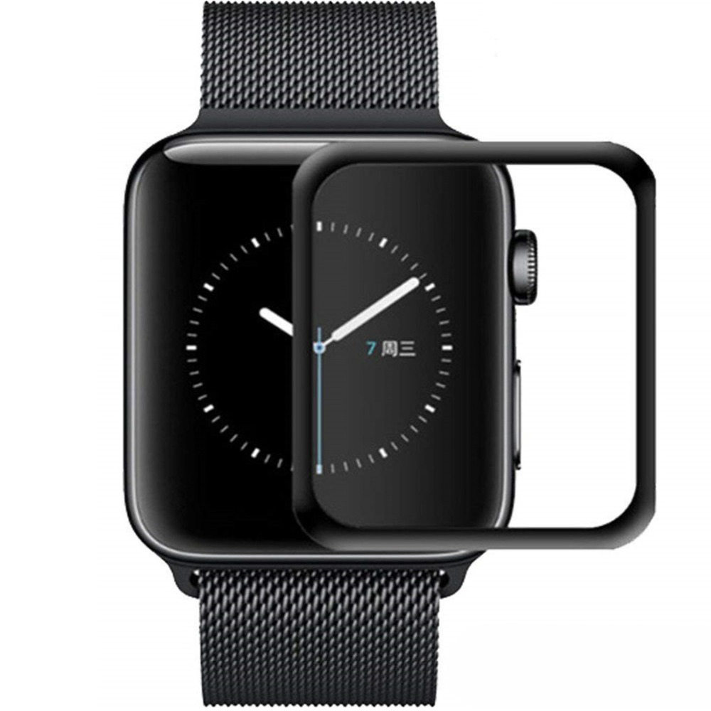 Tempered Glass Film For Apple Watch 5 4 Band 44mm 40mm Full Cover Screen Protector Iwatch 3/2/1 42mm 38mm Watch Accessories