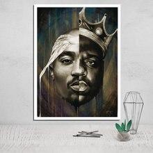 Lienzo pintura Tupac Shakur póster de impresiones de lienzo Vintage pintura y caligrafía pintura abstracta arte de pared cuadros modulares Pop