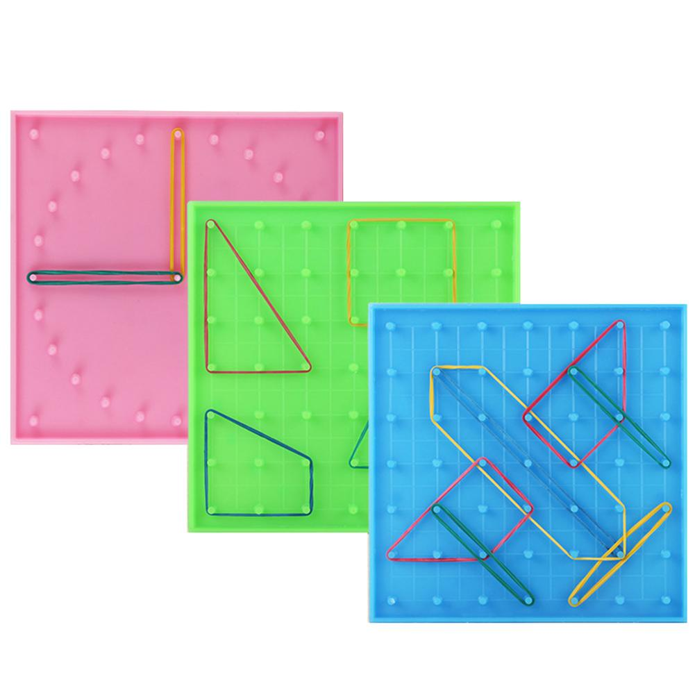 Double Sided Peg Geoboard Rubber Tie Graphics Learning Kids Educational Toy Gift Children Math New