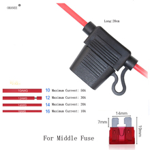 5pcs In Line Car Middle Blade Fuse Holder Splash-proof for 1