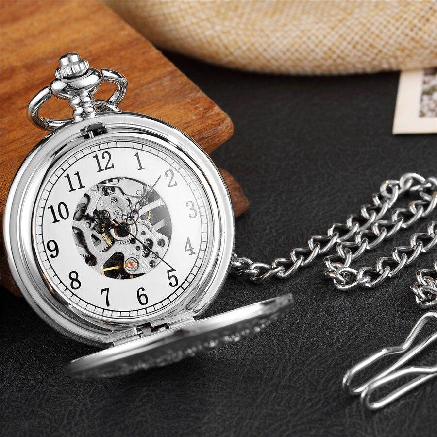 Mecânico Relógio de Bolso Cadeia Colar de