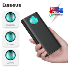 Baseus 20000mAh Power Bank 18W PD3.0 + QC3.0 Fast Charger Fo