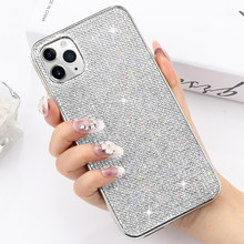 Llz. tritone Glitter BLING Berlian Imitasi Case untuk iPhone 11 Pro Max X XR X Max Crystal Case For iPhone 8 7 Plus 6 6 S Soft TPU Cover(China)