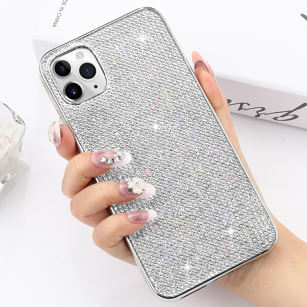 LLZ.COQUE Glitter Bling Rhinestone <font><b>Case</b></font> for <font><b>iphone</b></font> 11 Pro Max X XR XS MAX Crystal <font><b>Case</b></font> for <font><b>iphone</b></font> 8 7 Plus <font><b>6</b></font> 6s Soft TPU Cover image