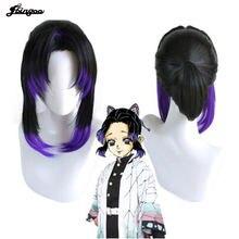 【ebingoo】demon slayer shinobu kochou Косплей парики kimetsu