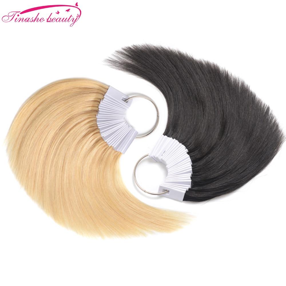 Tinashe Beauty 30 Pcs Human Hair Swatches Polishing Ring Salon Sample Hair Testing Samples Coloring Perming Human Hair Accessory