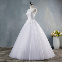 ZJ9144 Sexy Beaded Crystal Open Back Corset Wedding Dresses 2019 Bride Dress High Quality Customer Made Plus Size