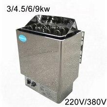 9KW 8kw 6kw 4.5kw 3kw calentador de Sauna 220V 380V Sauna generador de vapor de uso en el hogar calefacción caldera equipo seco