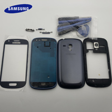 Original Full Housing Case Middle Frame+ Back Cover+ Glass Lens Replacement Parts For Samsung Galaxy S3 mini i8190 GT i8190
