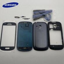 Originele Volledige Behuizing Case Midden Frame + Back Cover + Glas Lens Vervangende Onderdelen Voor Samsung Galaxy S3 mini i8190 GT i8190