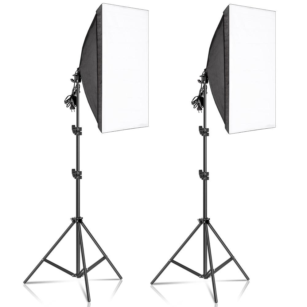 Kits ndriçimi të kutisë së butë fotografike 50x70cm pajisje - Kamera dhe foto - Foto 1