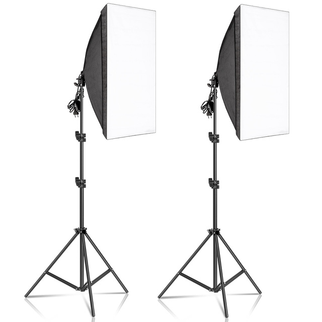 50x70CM Photography Softbox Lighting Kits Professional Continuous Light System Equipment For Photo Studio