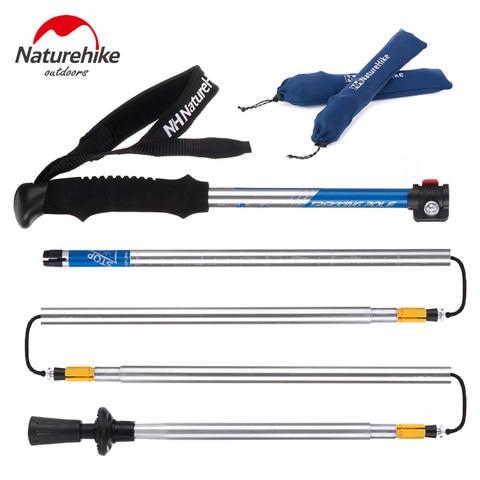 naturehike varas de caminhada ao ar livre ultra leve eva alca 5 secao bastoes ajustaveis