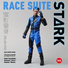 Collectible 1/6 DJ_Custom DJ-012 Blue Iron Man 2 Tony War Racing Suit&hand Shape Normale Ver. for12'' Action Figure blue iron man mk3 mark3 lifte size 1 1 bust statue scale tony strak recast action figure collectible boyfrien birthday gift