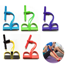 Pedal Exerciser Sit-up Pull Rope 4 Tube Resistance Bands Latex  Expander Elastic Bands Pilates Yoga Fitness Workout Equipment new hydraulic lever up tube expander ct 100a