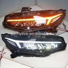 Динамический светодиодный токарный свет для HONDA Civic 10 gernareation- светодиодные фары LD