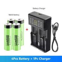 4 pièces 18650 batterie 3.7V 3400 MAh NCR18650B 18650 Lithium batterie Rechargeable lampe de poche modèle aérien Batteries + 18650 chargeur