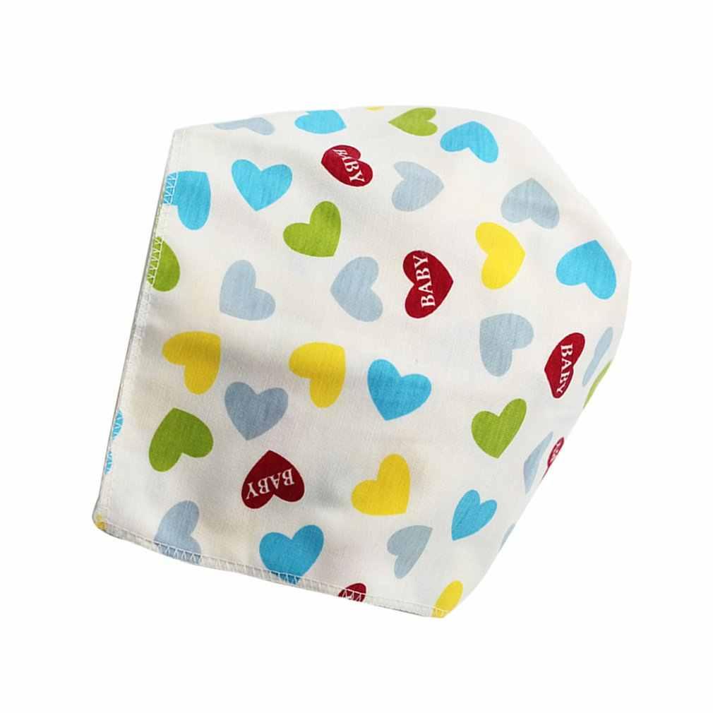 Algodão babadores de bebê triângulo camadas duplas dos desenhos animados bandana babadores dribble universal acessórios do bebê