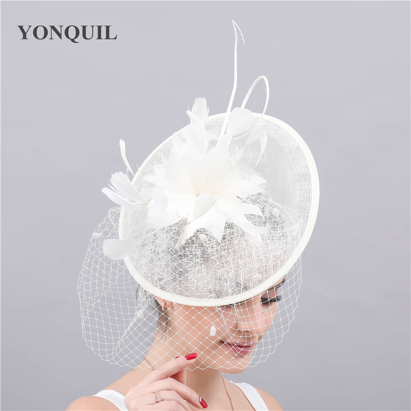 Gorgeous Bride Wedding Mesh Hat Fascinators Women Elegant Chic Headpiece Veilling Headwear For Marry Ladies Headpiece Flower