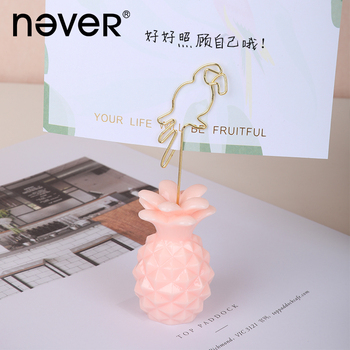 Never Pineapple Message clip Decoration Business Card Holder Office Accessories Photocard Display Stand Desk