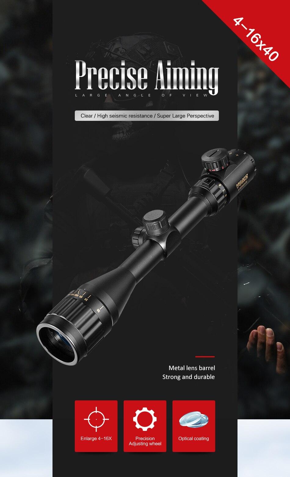 verde ponto iluminado vista rifle scope sniper