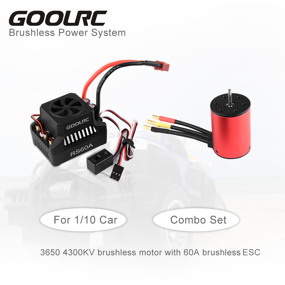 <font><b>GoolRC</b></font> <font><b>3650</b></font> 4300KV 3900KV Brushless Motor 60A ESC Brushless Electronic Speed Controller 6.V/3A BEC for 1/10 RC Car Accessories image