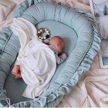 Sleeping-Nest Mattress Crib Pillow Cradle Playpen Cot Baby Bed Travel Toddler Infant