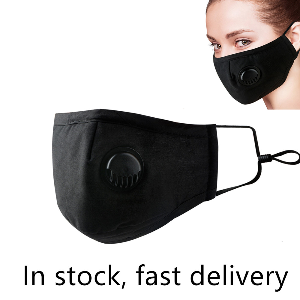 Adult Kids Anti Haze Mask Antibacterial Breathable Valved Dust Mask Dustproof Mouth Face Mask Respirator Washable Reusable