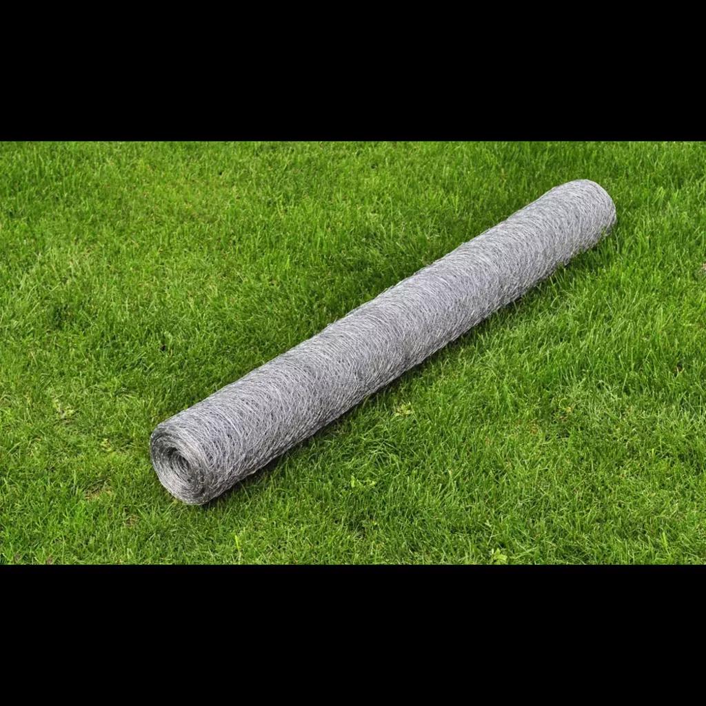Hexagonal Wire Netting 75cmx 25m Galvanized Mesh Size 36mm For Garden Fence Climbing Vine Frame Gardening Supplies