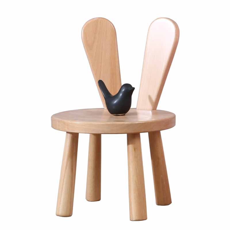 Ins Net Red Back Home Solid Wood Children Small Bench Writing Change Shoes Cartoon Stool Children Chair Home Learning