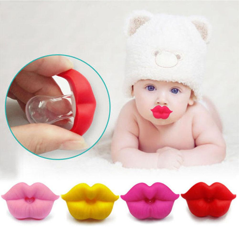 Baby Pacifier Infant Kiss Lip Dummy Pacifier Unisex Funny Silicone Baby Nipple Teether Soother Newborn Baby Dental Care