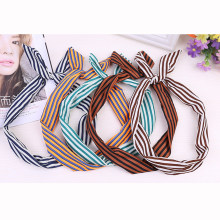 Women Girls Retro Cute Sweet Big Ribbon Bow Rabbit Ear Headbands Elastic Stretchy Striped Dot Hair Bands Hair Accessories Gifts(China)