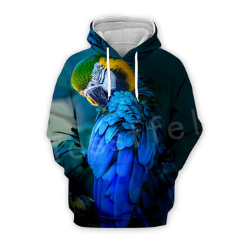 Tessffel Animal Parrot Unisex Colorful Funny NewFashion Tracksuit Harajuku 3DPrint Zipper/Hoodies/Sweatshirt/Jacket/Men/Women s9 1