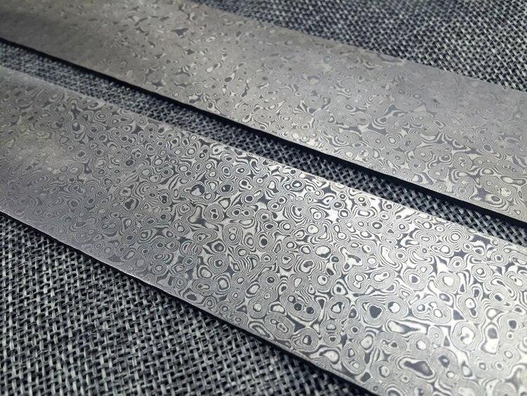 แท่งเหล็กดามัสกัส สำหรับสร้างใบมีด ขนาด 300x50x3mm. เหล็กแซนวิสดามัสกัสมีลายคลื่น มีดDIY ผลิตใบมีดทำครัว มีลายคลื่นที่สวยงาม