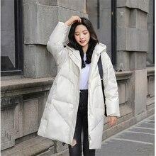 2019 New down Jacket  Women Long Warm Parka Hooded Loose Outerwear Korean Coats For Girls Fashion Jacket Woman Winter Coat