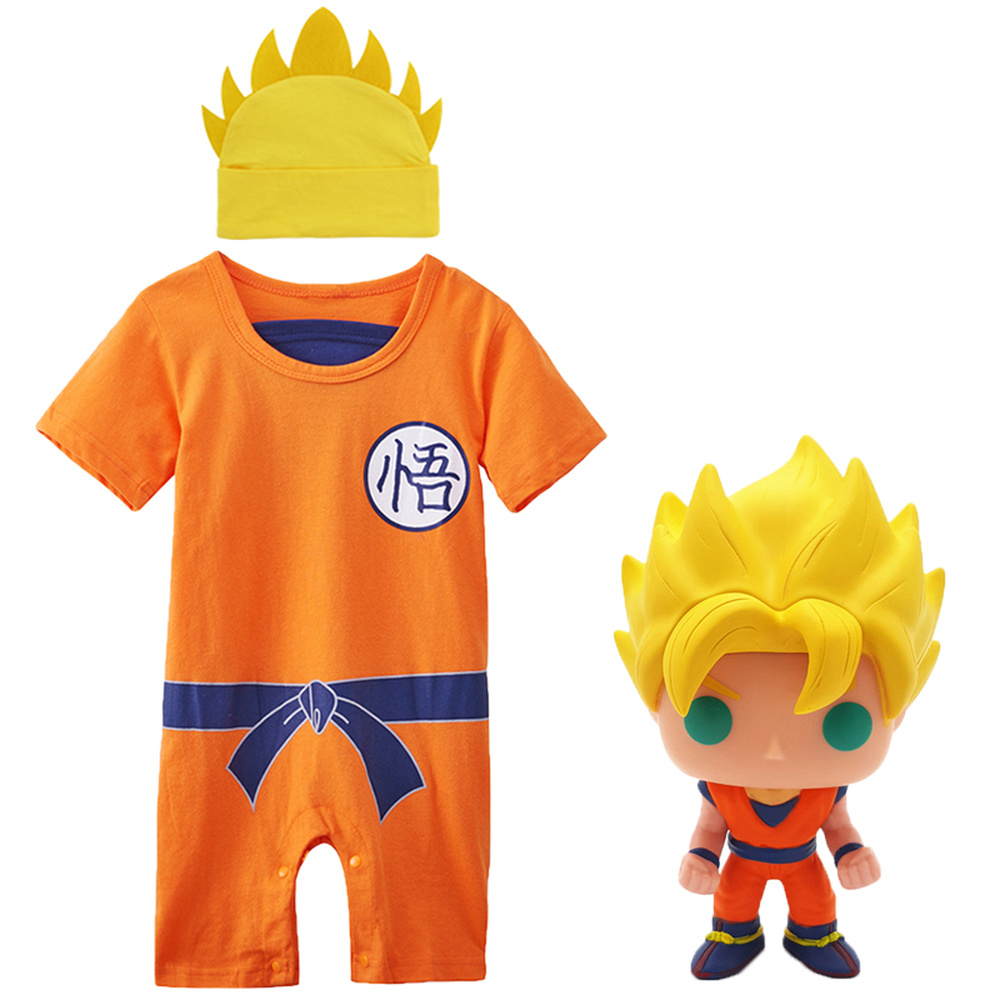Baby Boys Playsuit Newborn Dragon Ball Z Vegeta Romper Costume Jumpsuit Outfit