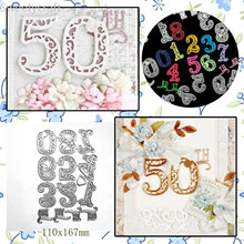 Craft Dies Lace Number Card decor Metal cutting dies DIY scrapbooking new 2020 die cut stamps decor embossing stencils(China)