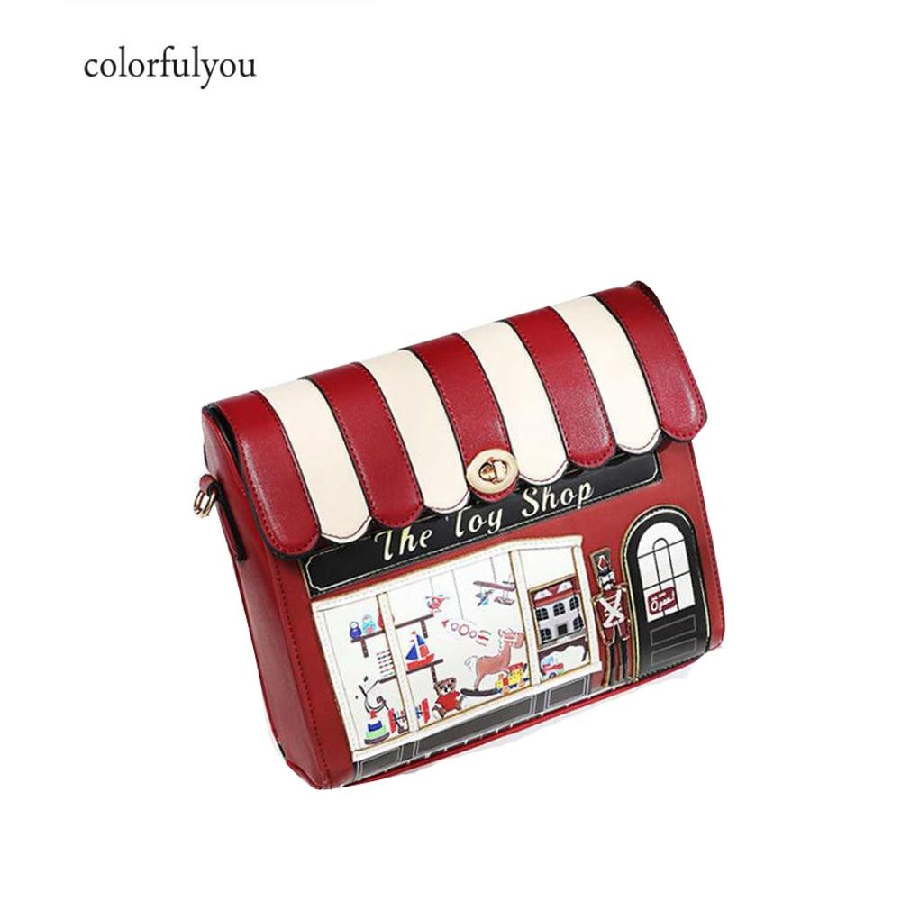 Luxury Shoulder Bag Women House Shaped Messenger Bag Unique Novelty Cartoon Creative PU Leather Crossbody Bags For Girls A366