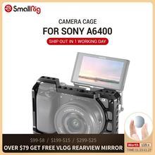 SmallRig A6400 Gabbia Fotocamera per Sony Alpha A6300 / A6400 / A6500 / A6100 Della Macchina Fotografica w/ 1/4 3/8 Filo fori per Vlog Opzione FAI DA TE 2310