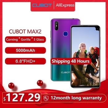 Перейти на Алиэкспресс и купить Cubot Max 2 смартфон с 6,8-дюймовым дисплеем, восьмиядерным процессором, ОЗУ 4 Гб, ПЗУ 64 ГБ, 12 Мп, 4G LTE, 5000 мАч